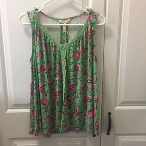 Women's Matilda Jane Sleeveless Floral Top Size S